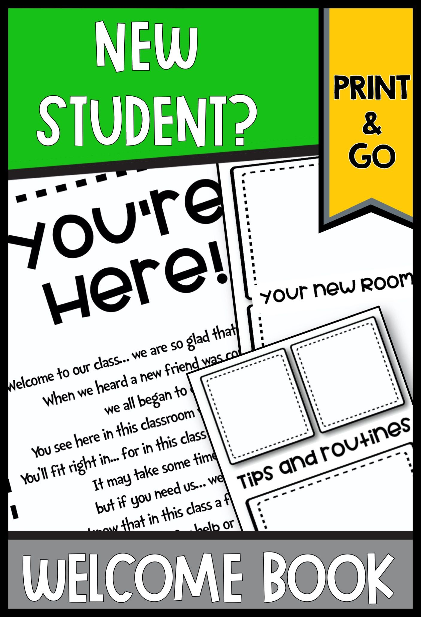 New Student Welcome Book And Activities New Students First