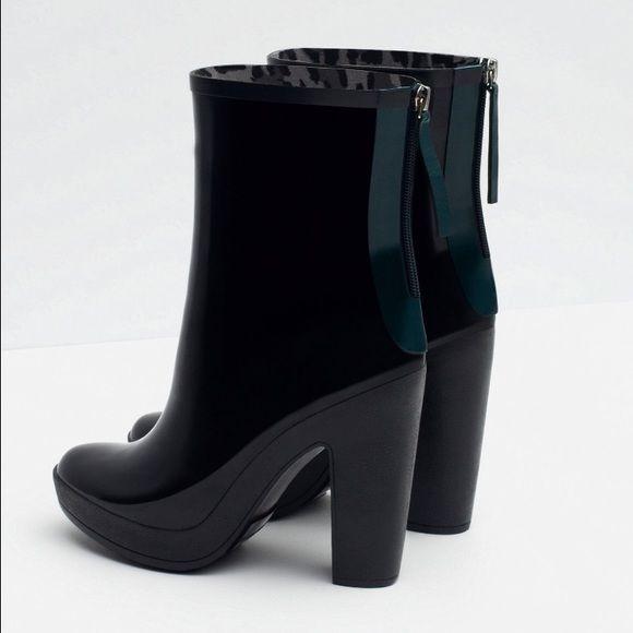 Zara high heel rain boots nwt | Zara shoes and Shoes heels boots