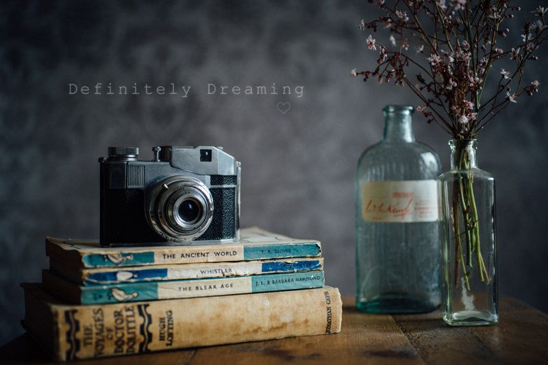 Www Definitelydreaming Com Photographic Art Still Life Photo Of Film Camera With Old Books Bottles Still Life Photos Still Photography Still Life Artists