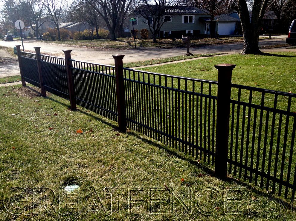 Metal Yard Fencing With Double Pickets For More Privacy Great