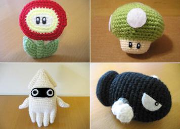 Tutorial Amigurumi Pinguino : Tutorial personajes mario bros amigurumi mushy 4 plushies
