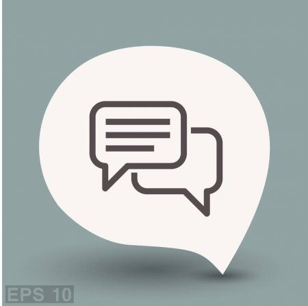 Pictograph of message or chat  Stock Vector