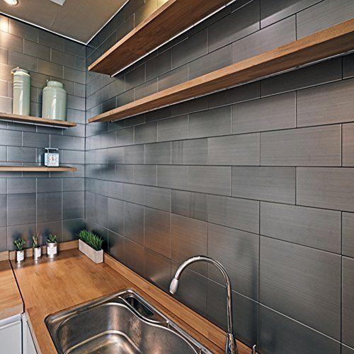 fasade easy installation traditional 1 brushed aluminum backsplash rh pinterest com mx