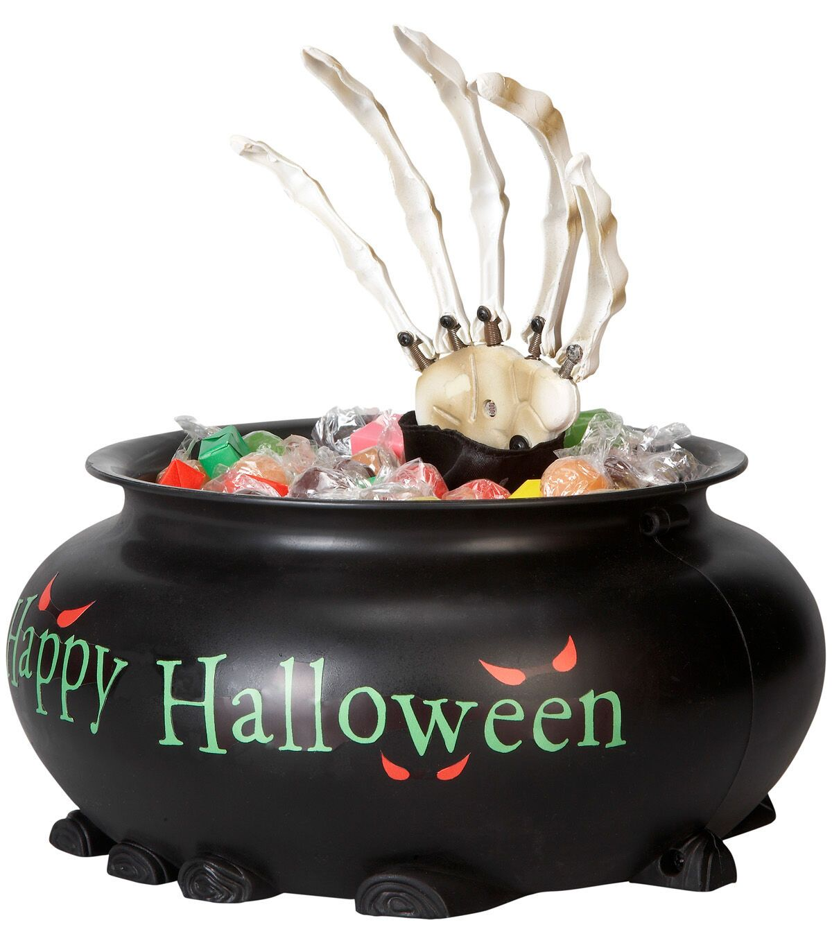 Maker's Halloween Animated Candy Bowl with Skeleton Hand