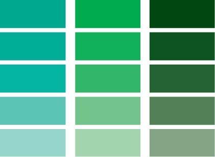 Carta de color 5 referentes visuales pinterest colores azul verde y color - Paleta de colores para paredes ...