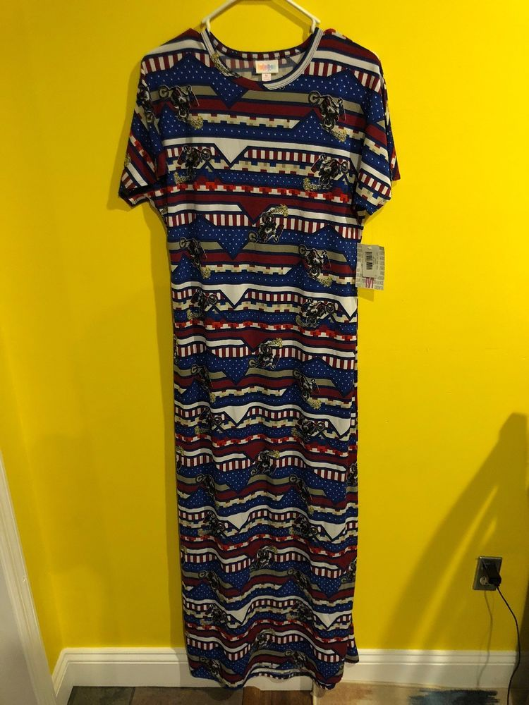Nwt Lularoe Maria Maxi Dress American Dreams Motorcycle Evil Knievel Flag M Fashion Clothing Shoes Accessories Womens Maxi Dress Dresses Clothes For Women