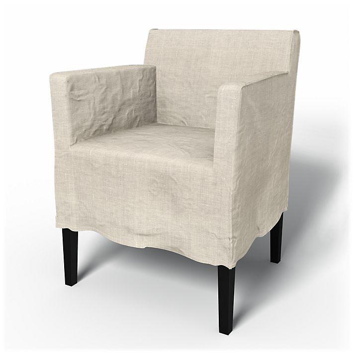 Nils Chair Covers Armchair Loose Fit Urban Medium Skirt Using