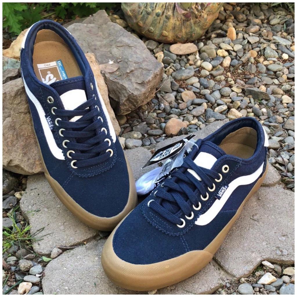 Vans Chima Pro 2 Navy Suede Shoes