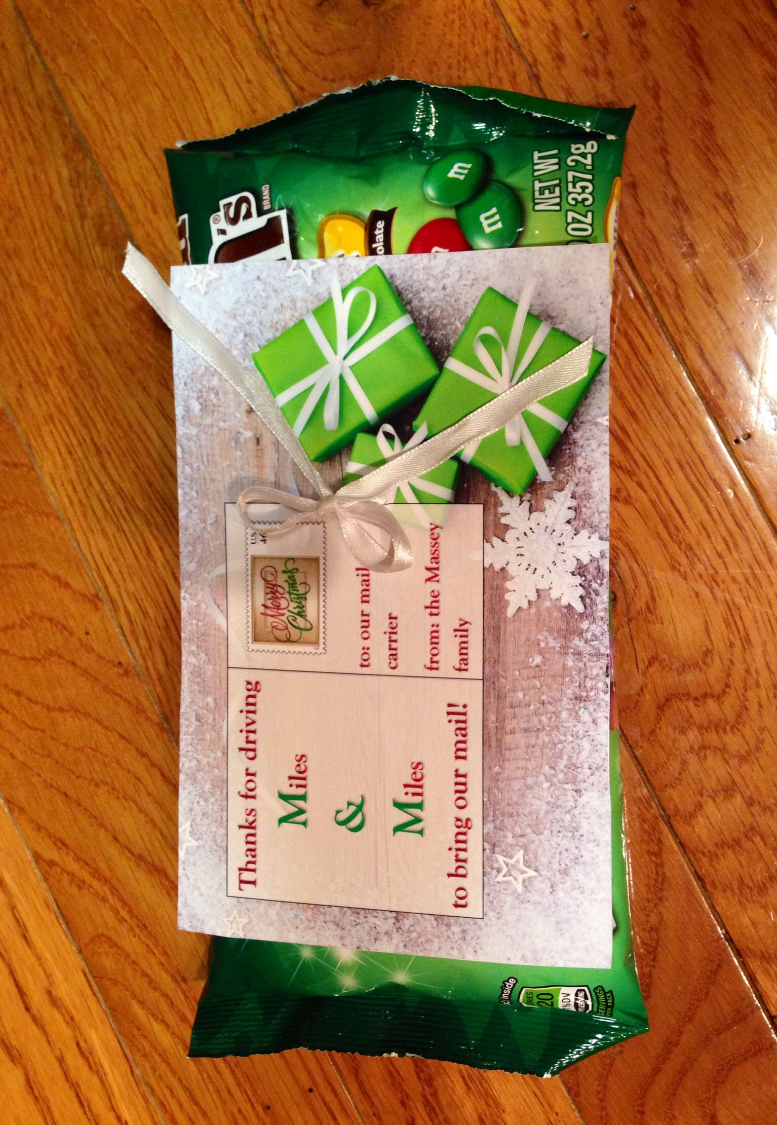 Christmas gift for our postal carrier mail carrier gift