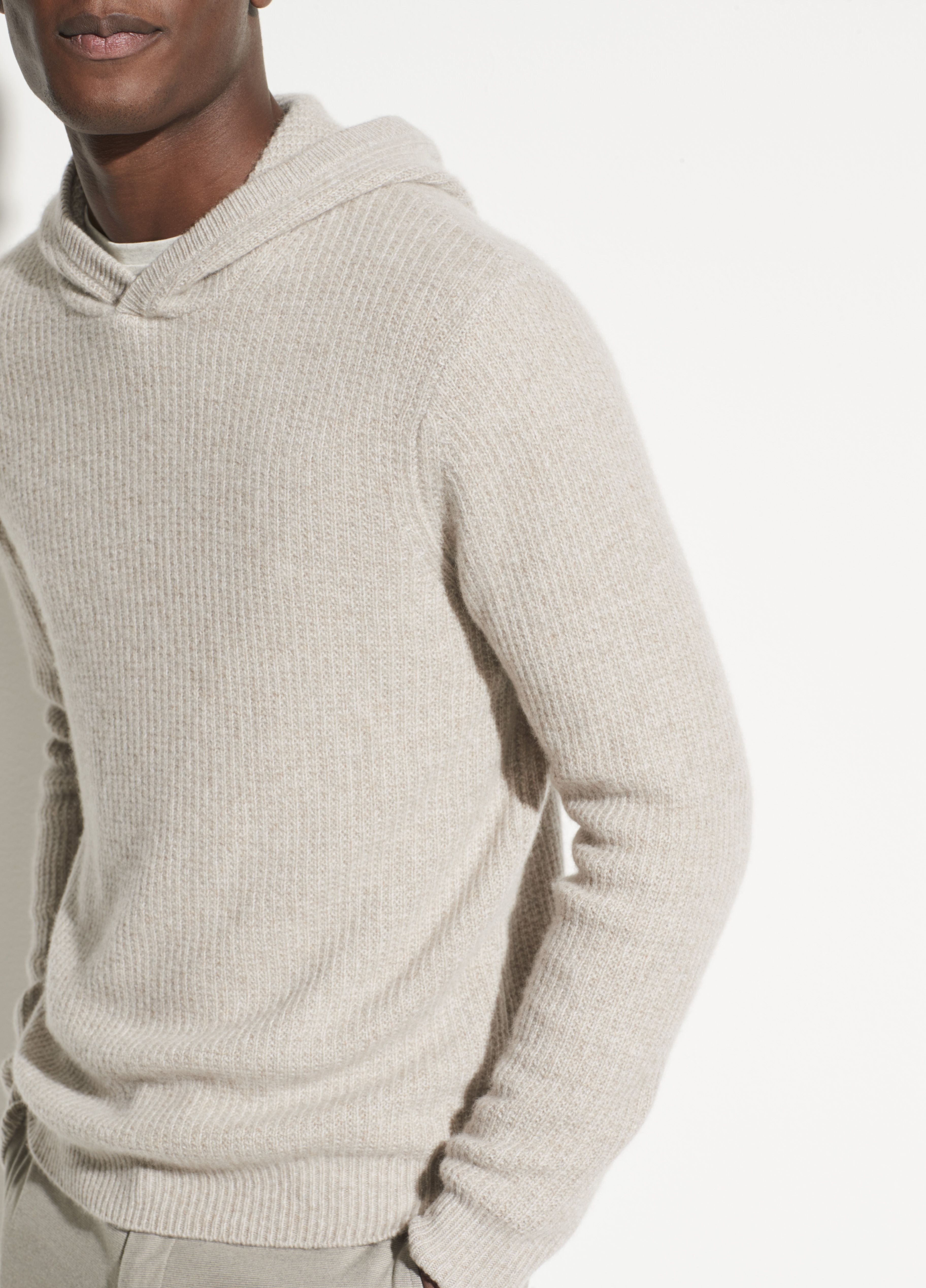 Marled Cashmere Pullover Hoodie For Men Pullover Hoodie Mens Sweatshirts Pullover [ 5074 x 3648 Pixel ]