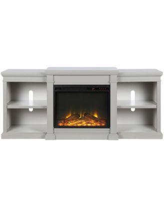 ameriwood home blaine 70 inch electric fireplace tv stand white in rh pinterest com