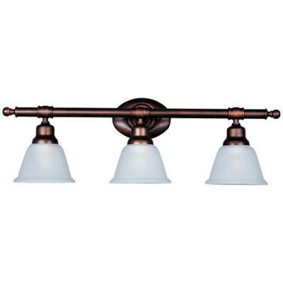 maxim lighting essentials 3 light bath vanity light fixture in oil rh pinterest com