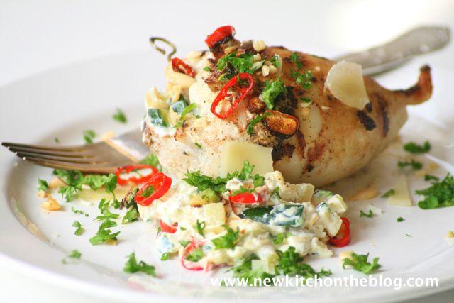 New Kitch On The Blog: Urlaubsgefühle: Gefüllte Tintenfischtuben mit Zucchini und Ricotta