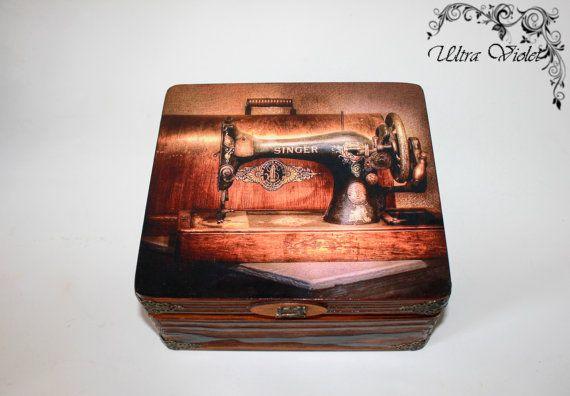 Große Nähen / Stricknadeln Box mit Nadelkissen von UltroViolet, €38.00