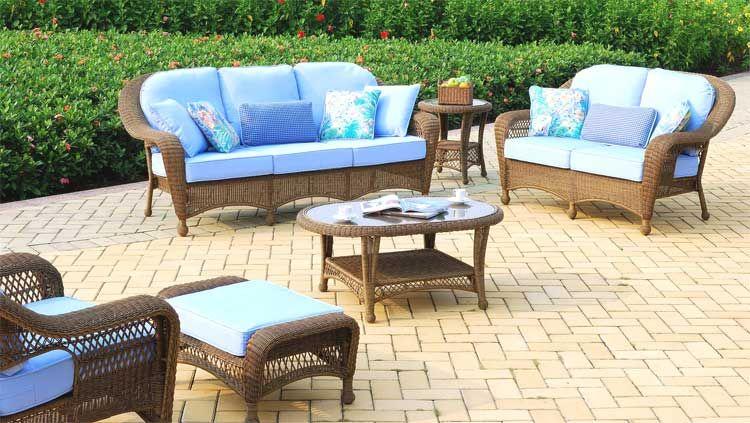South Sea Rattan Savannah Wicker Patio Furniture Set 76400