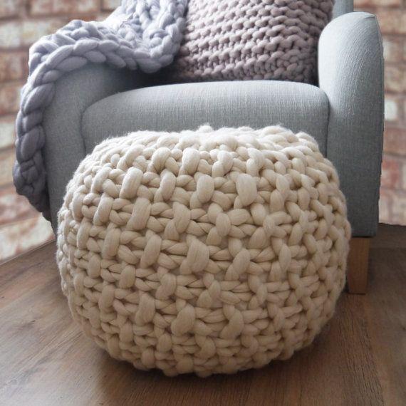 White Pouf Ottoman Fascinating White Knitted Pouf Ottoman Footstool Cream Pouffe Ottoman Design Ideas