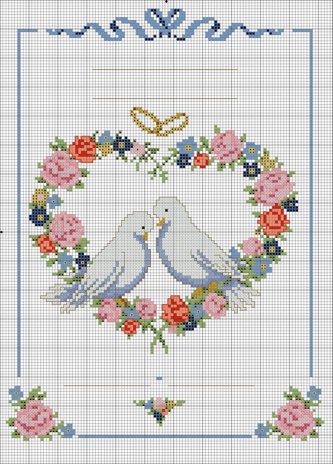 Mariage Au Point De Croix : mariage, point, croix, свадебные+голубки+(12).JPG, (1150×1600), Point, Croix, Mariage,, Points, Broderie,, Broderie