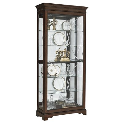 darby home co blake etched lighted curio cabinet products in 2019 rh pinterest com