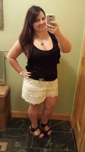 5f6d04ef118a In love with these Joe Fresh lace shorts ♡ Joe Frisch, Spitzen Shorts, Mode