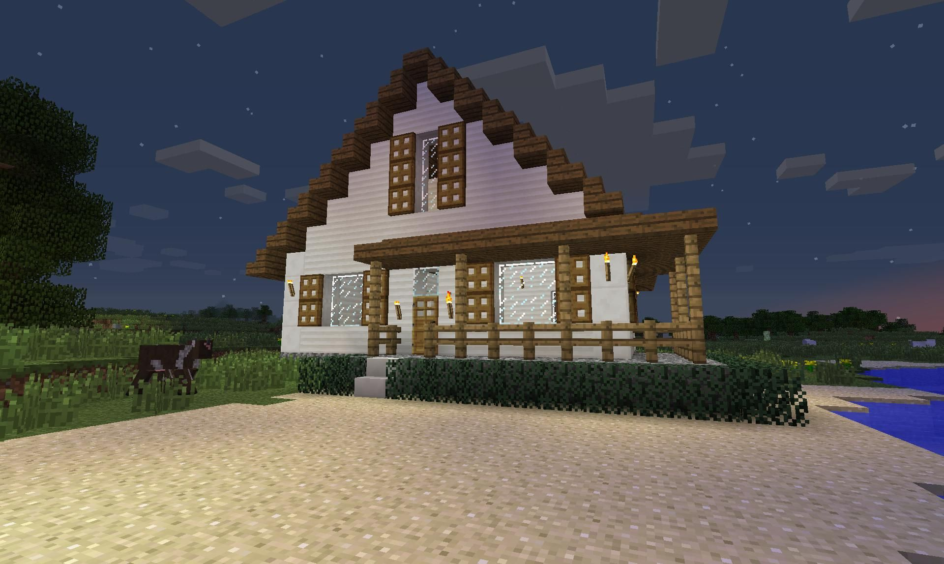 Minecraft farm houses minecraft pinterest for Modele maison minecraft