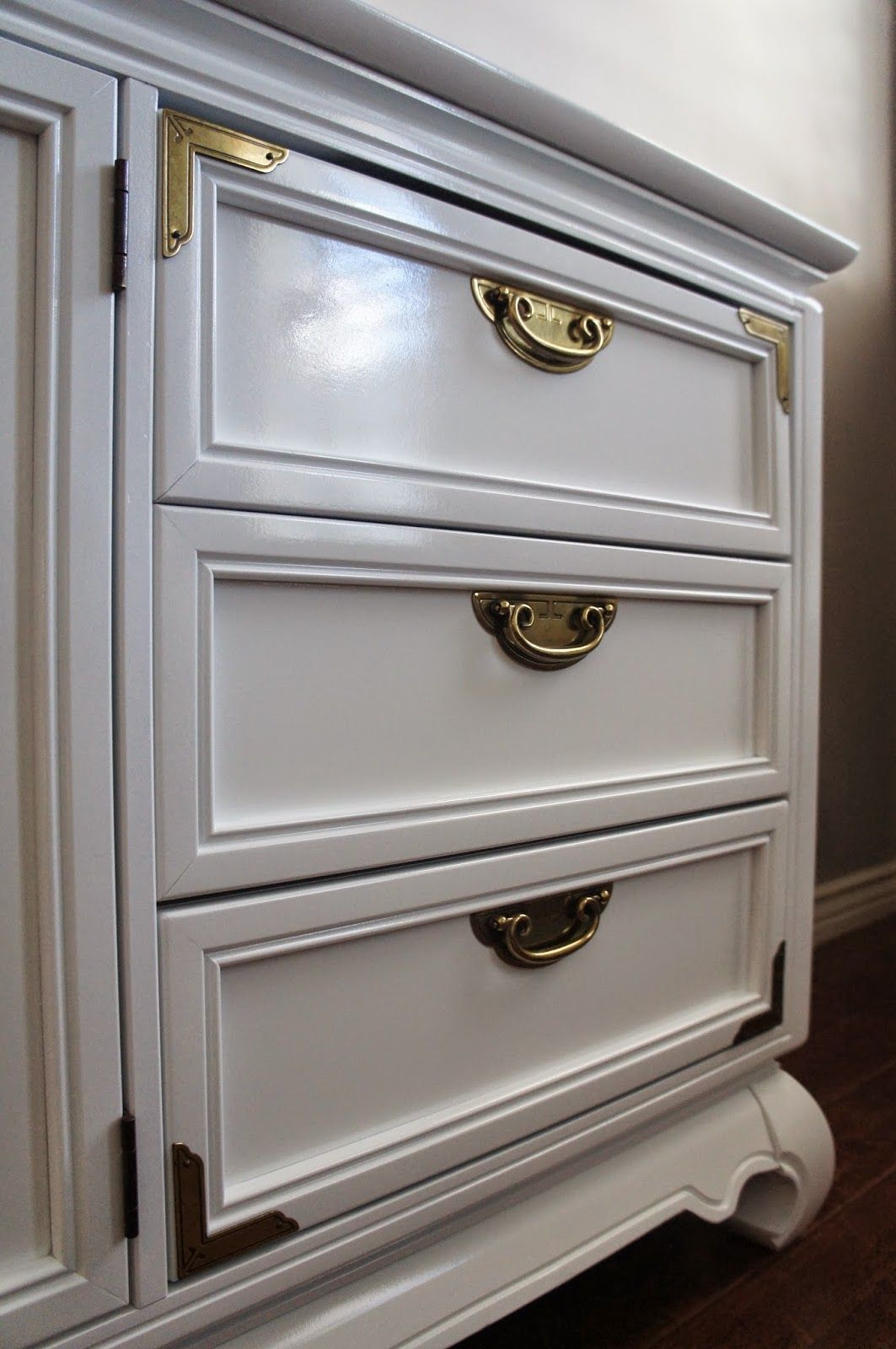 European Paint Finishes Grey Asian Dresser