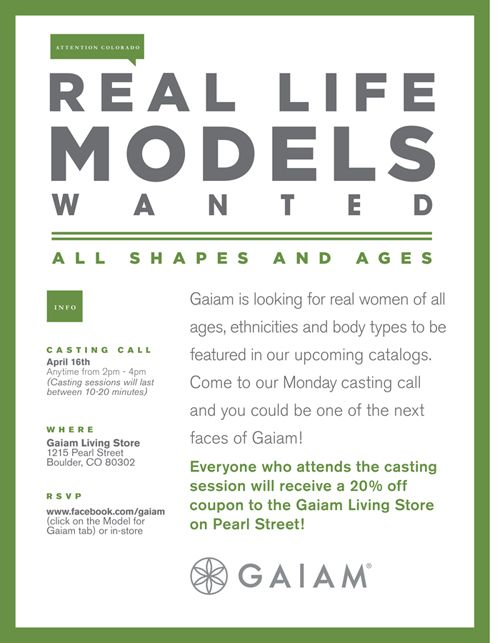 Real Life Model Casting Call Today 4 16 From 2pm 4pm At The