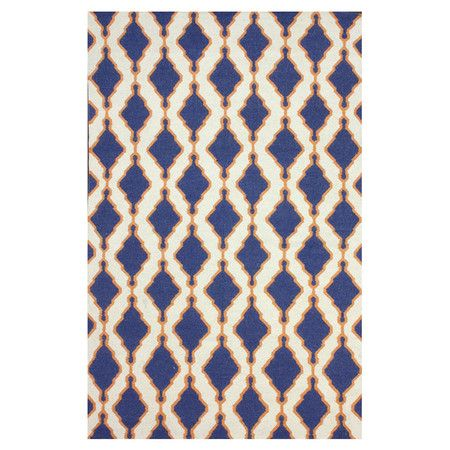 Flatweave+wool+rug+with+an+ogee-inspired+motif.+Handmade+in+India.+  Product:+RugConstruction+Material:+100%+Wool...