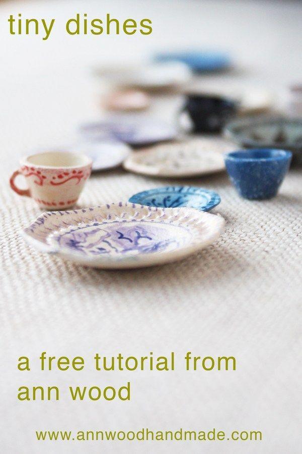 miniature dish tutorial : make tiny teacups and plates