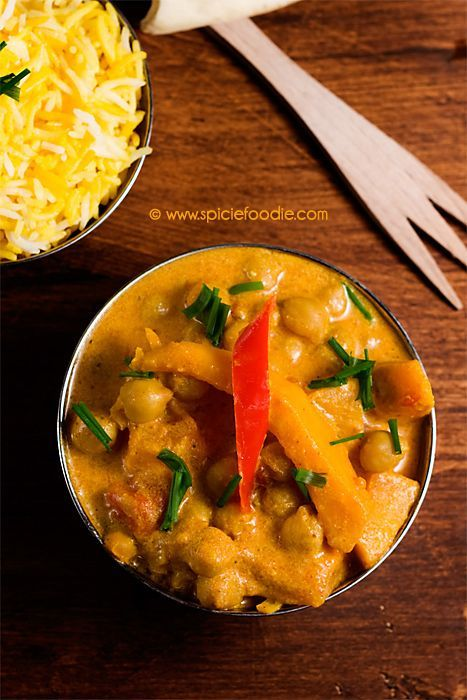 Squash and Garbanzo Curry (Vegetarian) Recipe by Spicie Foodie