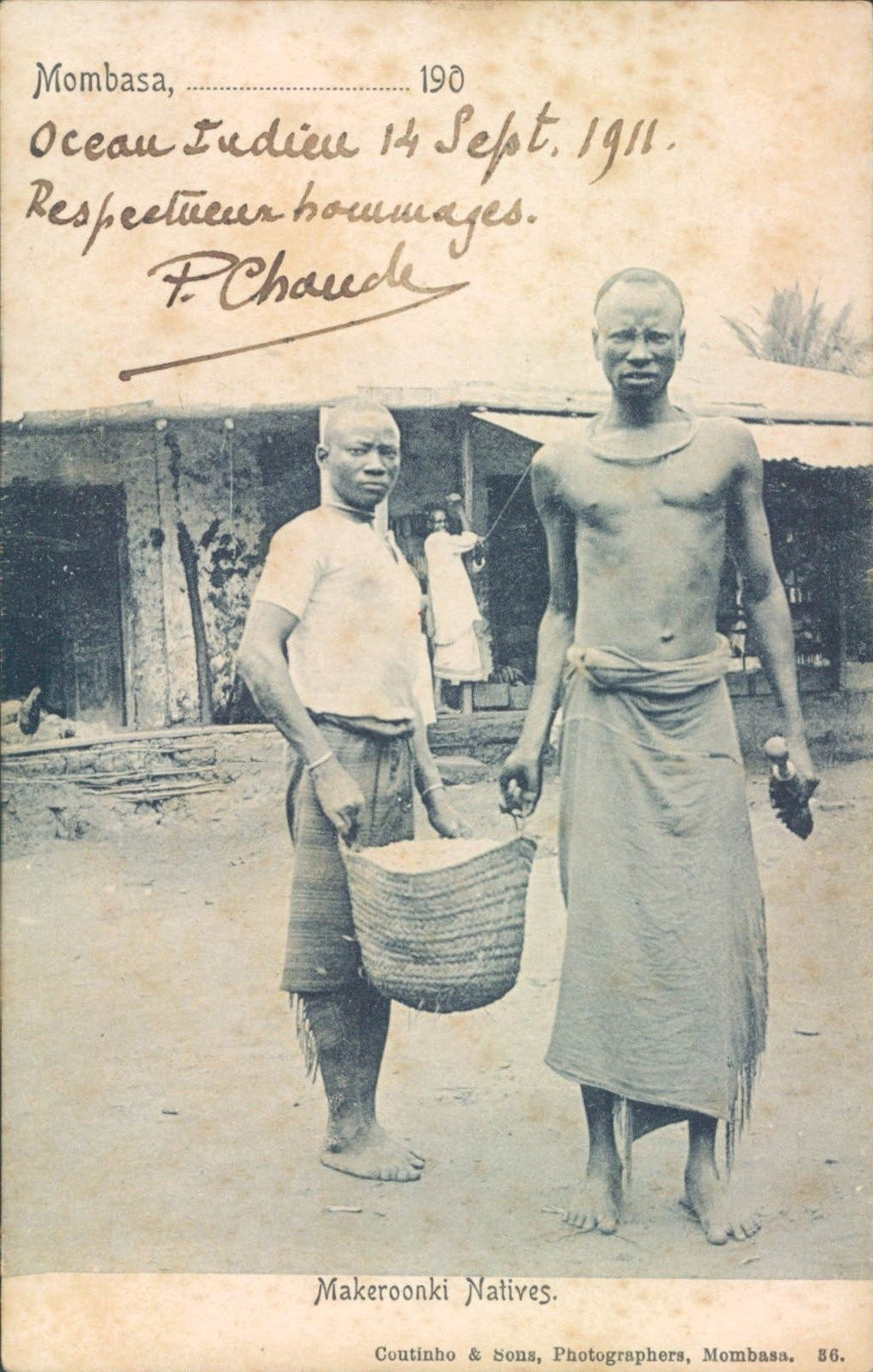 Makeroonki Natives Mombasa 1911 Makeroonki Natives Mombasa