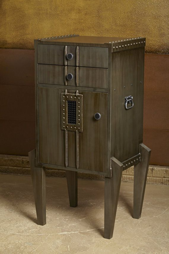 Industrial Modern Storage Cabinet Steampunk Style by