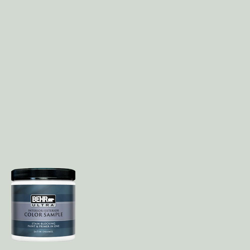Behr Ultra 8 Oz N410 2 Brook Green Satin Enamel Interior Exterior Paint And Primer In One Sample Ul22016 The Home Depot In 2020 Behr Ultra Interior Paint Exterior Paint