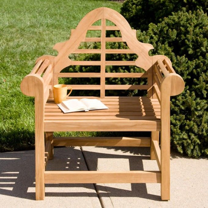 Marlboro Lutyens 36 Teak Single Seat Bench
