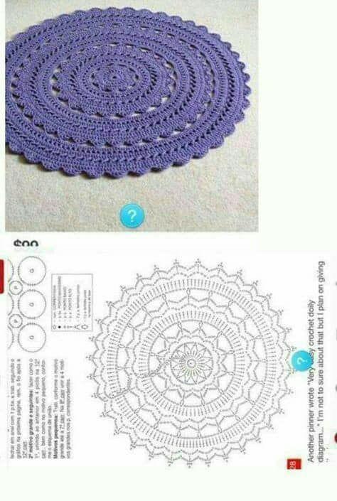 Resultado de imagen de sousplat de croche patrones | MODA ...