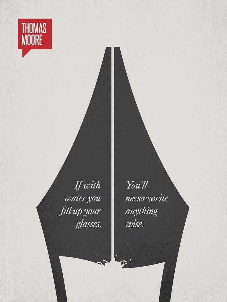 Minimalist Poster Quote Thomas Moore