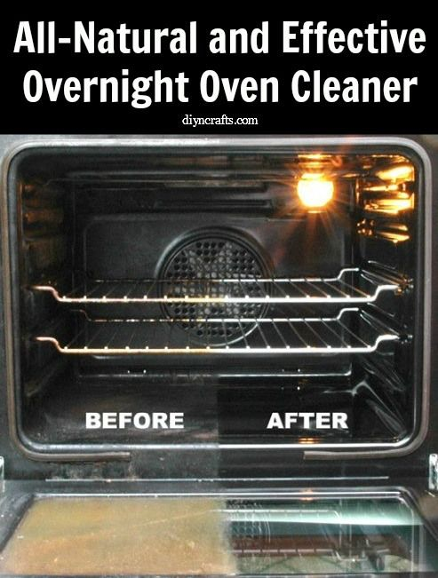 how to clean oven naturally overnight