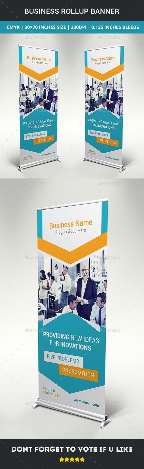Design large banner in illustrator - Business Rollup Banner