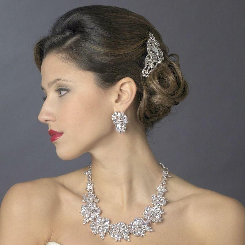 Breathtaking Cubic Zirconia Wedding Jewelry Set - Affordable Elegance Bridal -