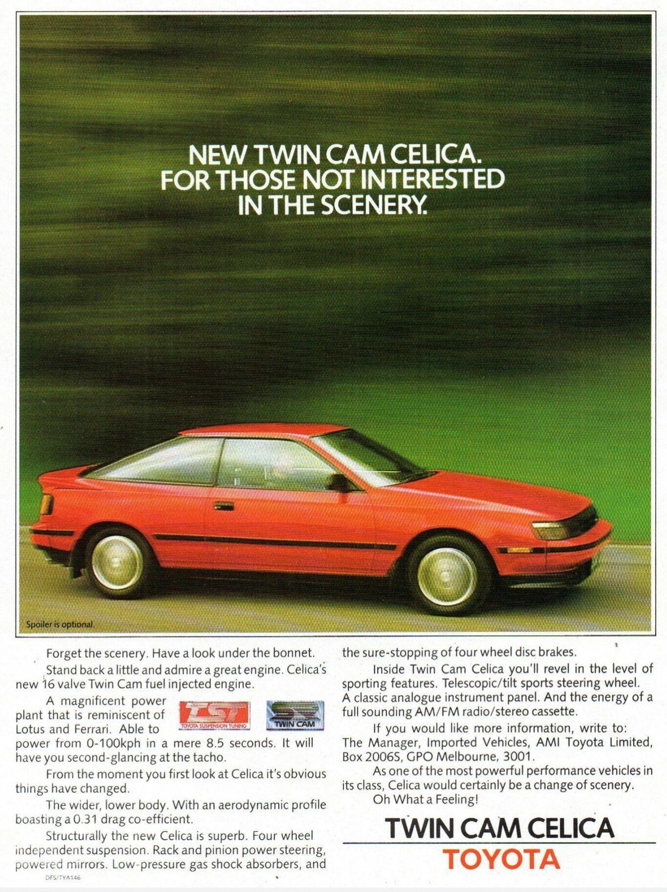 1986 Toyota Celica Twin Cam Liftback Australia Toyotaclassiccars Classic Cars Toyota Toyota Celica
