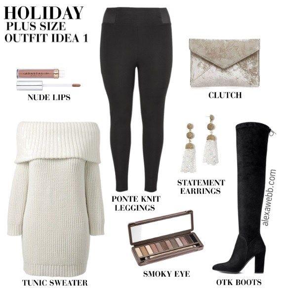 Plus Size Christmas Day Outfit Ideas - Plus Size Holiday Outfit Ideas -  Plus Size Fashion for Women - alexawebb.com #alexawebb #plussize  #christmasoutfit # ... - Plus Size Christmas Day Outfits Plus Size Fashion Pinterest