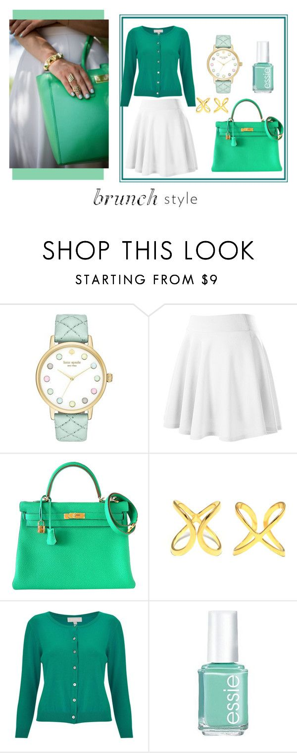 """""""Brunch style"""" by s-igma ❤ liked on Polyvore featuring Kate Spade, Hermès, MaLi Beads, Havren and Essie"""