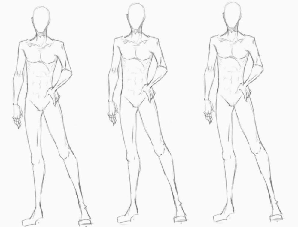 15 Anime Sketch Base Male Croqui Masculino Modelo De Croqui Corpo Masculino