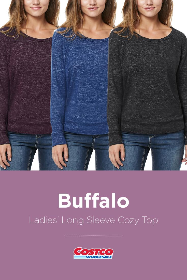 267a73b00a Buffalo Ladies  Long Sleeve Cozy Top