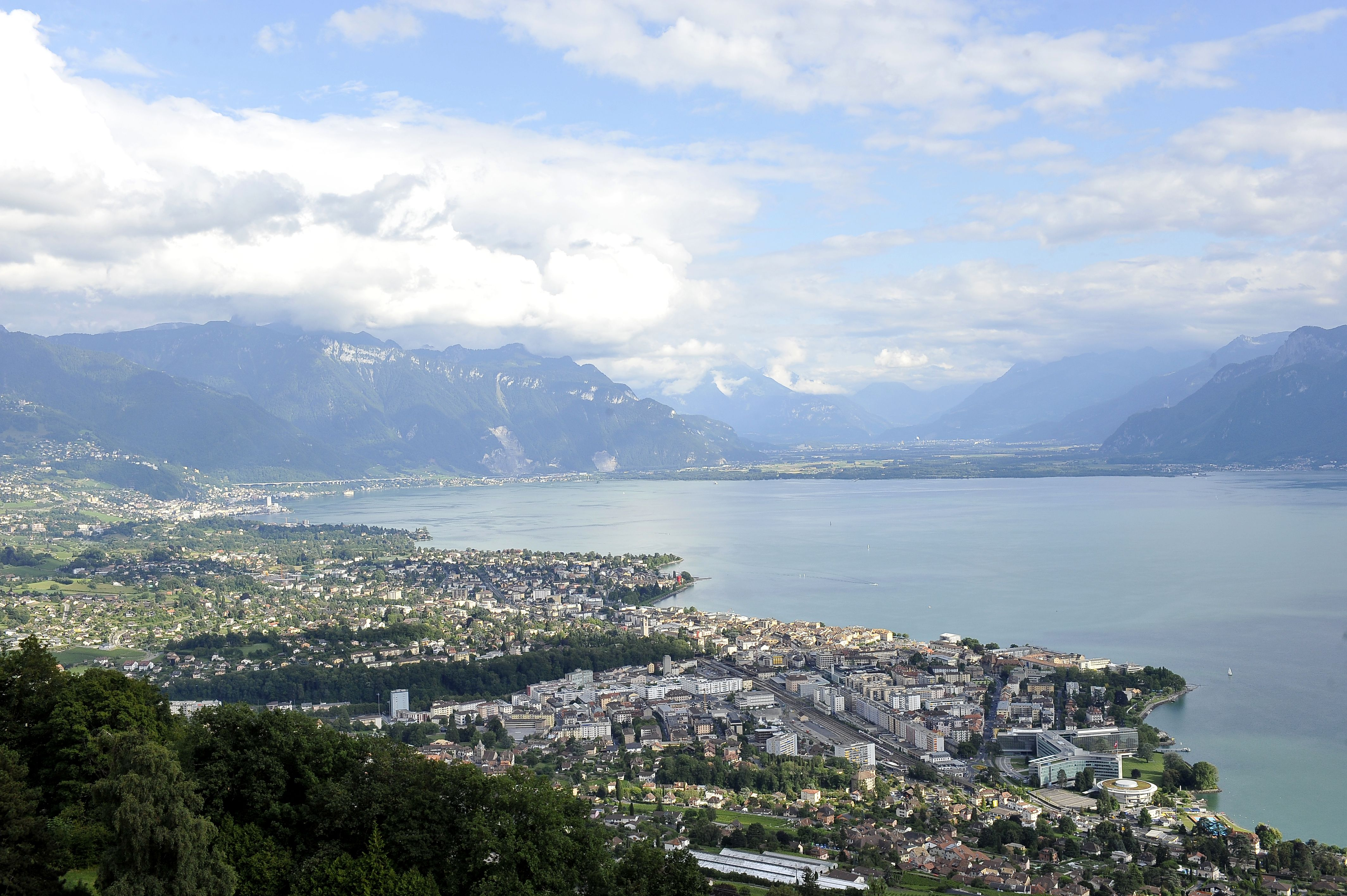 Montreux is our campus (view from Mont Pèlerin, Switzerland)