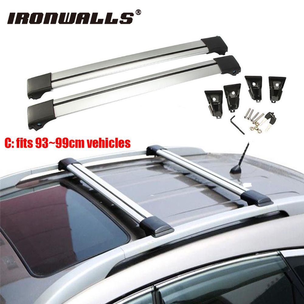 Ironwalls Car Roof Rack Cross Bar 93cm 99cm Top Luggage Cargo
