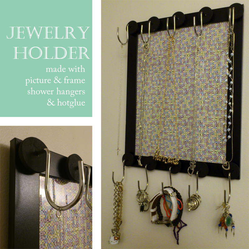 DIY Jewelry Holder made with frame and