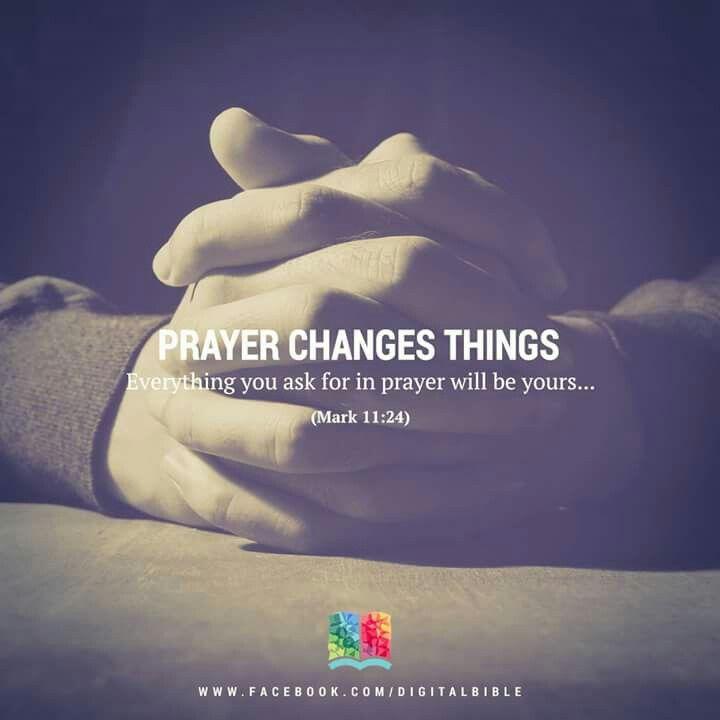 Prayer makes the darkest clouds go away.