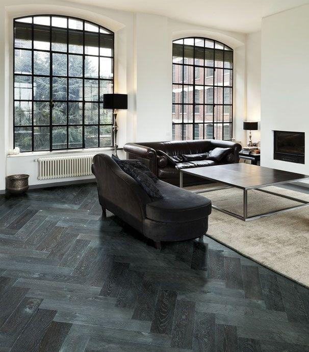Klassisch und edel Eiche Antik, Schiefer schwarz, klassisches - wohnzimmer fliesen schwarz
