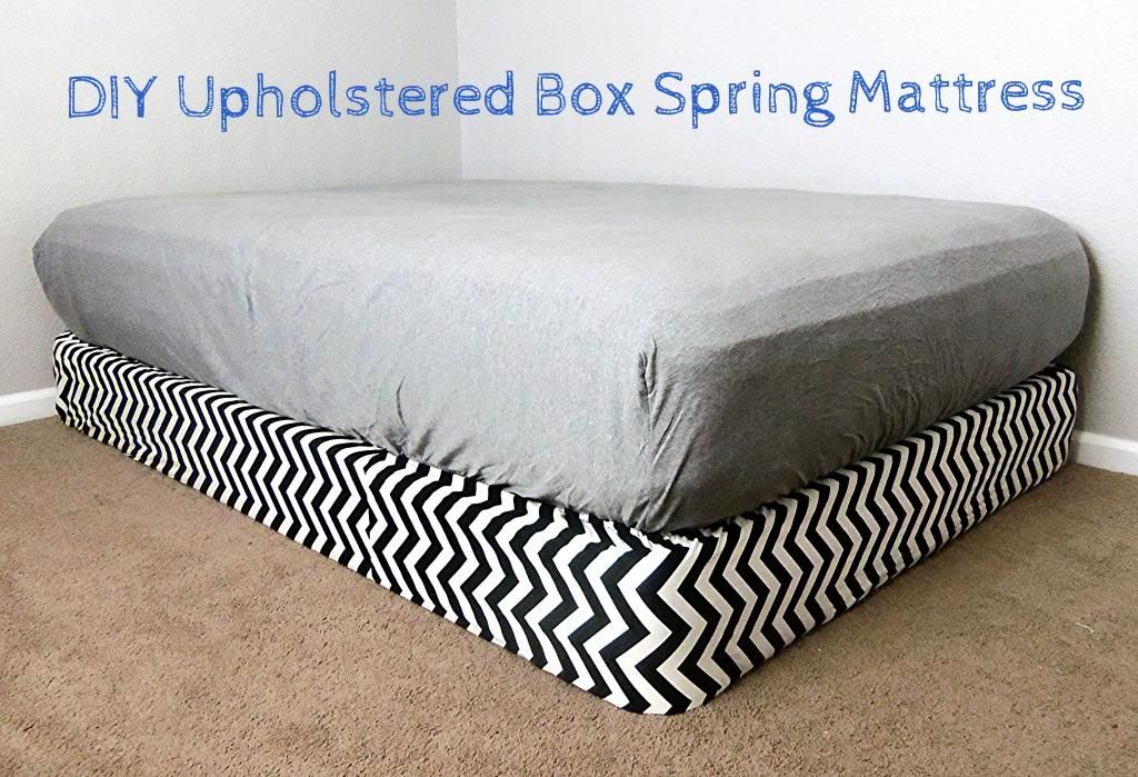 3squeezes: DIY Upholstered Boxspring Mattress | DIY House | Pinterest