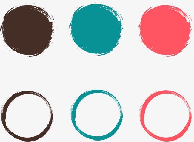 Painted Circular Frame Vector Material Png And Vector How To Draw Hands Frame Vector